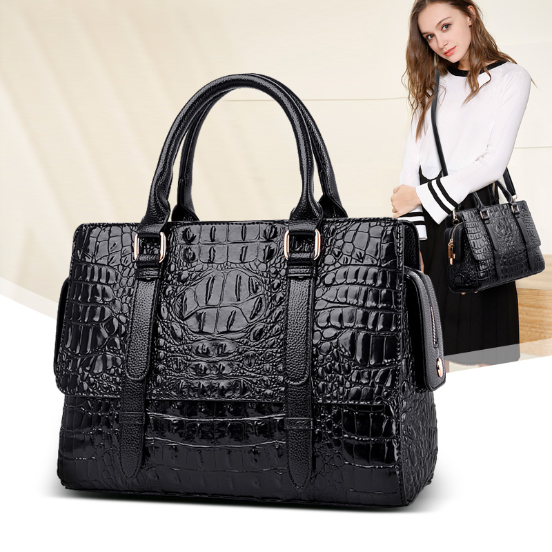 High quality crocodile pattern womenbag temperament ladies shoulder Messenger bag luxury brand designer elegant handbagHigh quality crocodile pattern womenbag temperament ladies shoulder Messenger bag luxury brand designer elegant handbag