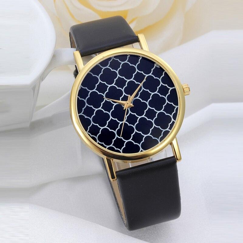 04d808fba7a 2016 Mais Novo adequado Homem Mulher de Pulso de Quartzo Relógios de  Genebra Stripes Assista PU LEATHER Meninas Vestido Relógios Relogio feminino