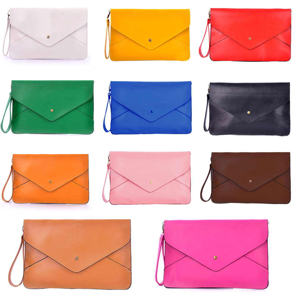 Hot Sale Women Envelope Clutch Bag Briefcase PU Leather Envelope Shoulder Crossbody Bag Vintage Small Clutch Bag E2shopp BS88