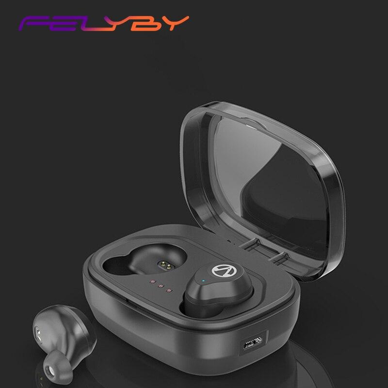 Casque Bluetooth mini invisible sans fil binaural étanche tactile connexion automatique casque sport