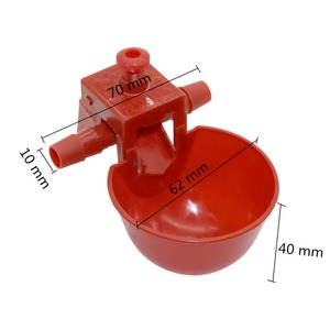 Image 2 - 50 Sets Red Quail Waterer Animal Feeders Automatic Bird Coop Feed Poultry Chicken Fowl Drinker Water Drinking Cups