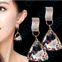 Фотография European and American fashion classic Exaggerated Crystal Earrings high-grade drop earring Female accessories