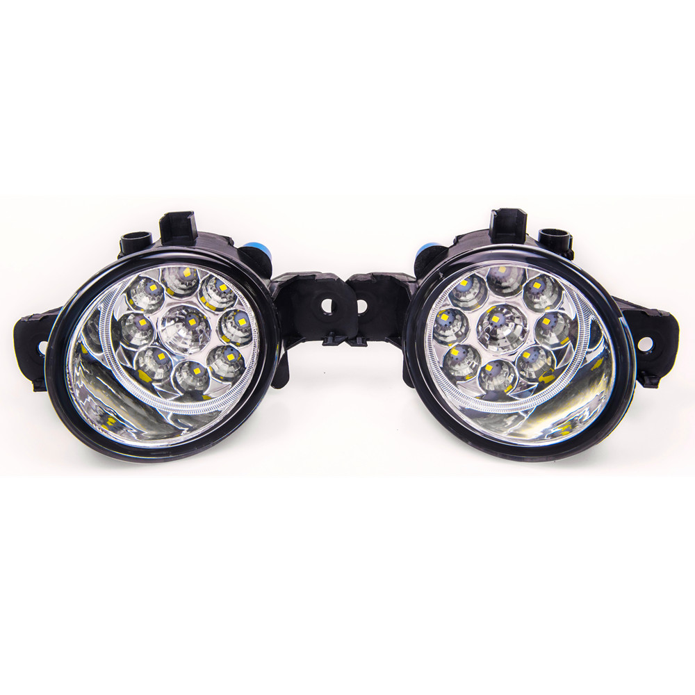 For Renault CLIO II (BB0/1/2_, CB0/1/2_ Hatchback 1998-2004 Car styling High brightness LED fog lights DRL lights 1SET бампер передний на renault clio 2001