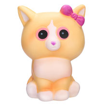 Squishy Kawaii White cat Cream Scented Charms Lovely Toy for Stress Relief Toy Decorations Toy Anti-stress Kids Squish Toys19M10(China)