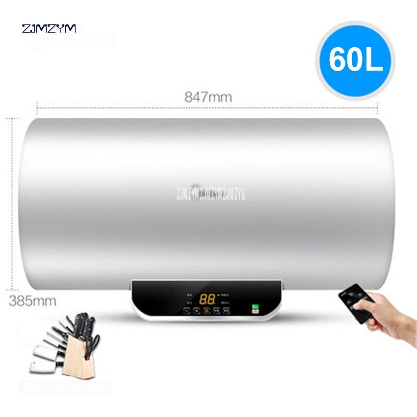 1 PC 60L 2100 W chauffe-eau salle de bains stockage de l'eau électrique chauffe-eau robinet LCD affichage de la température télécommande F60-15WB5 (Y)