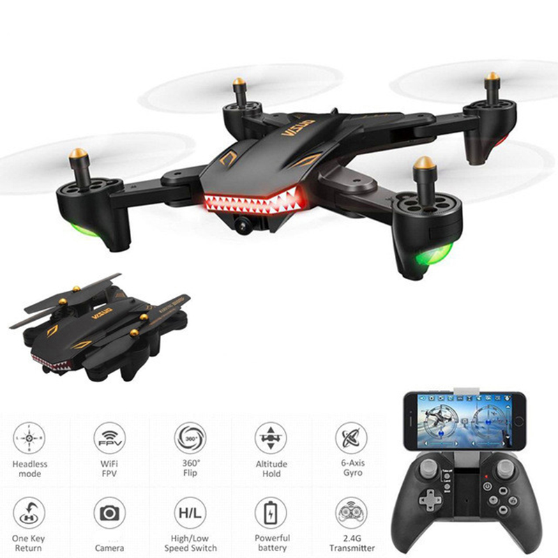 RCtown XS809S 2.0MP Four Axis Aircraft <font><b>Drone</b></font> 720P WIFI <font><b>FPV</b></font> Foldable with HD Wide Angle Camera RC Quadcopter Helicopter D50 image