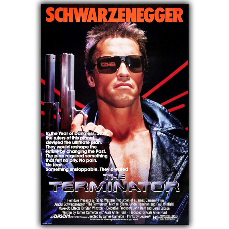 Terminator T 800 Arnold Schwarzenegger Movie Poster Silk Print Posters Of Home Decoration Wallpaper 30x45cm 50x75cm In Painting Calligraphy From