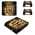 Juventus clube de futebol ps4 slim decalque adesivo de pele para sony ps4 playstation 4 slim console e 2 controladores de adesivos