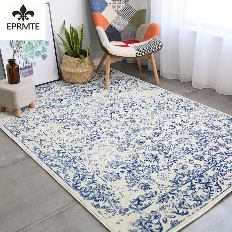 Import carpet Nordic minimalist American style living room and home coffee table mat bedroom bedside blanket decoration