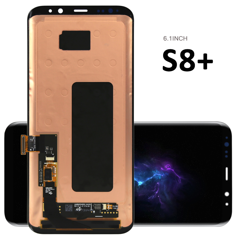 Free DHL  1PCS Original TEST PASS For Samsung S8 plus Lcd Display With Touch Screen Digitizer  Assembly + Tempered glass gift  цены