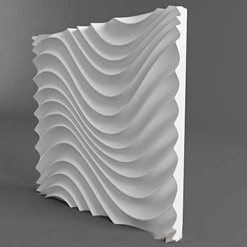 Plastic molds forms 3D decorative wall  Different Design panels size 500x500x40mm