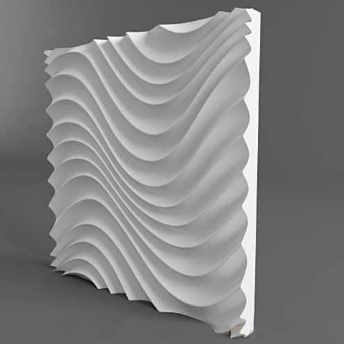 Plastikowe formy formy 3D dekoracyjne ściany inny projekt panele rozmiar 500x500x40mm