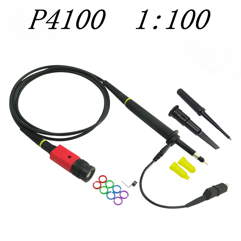 Oscilloscope owon liliput wholesale P4100 1PCS Oscilloscope Probe 100:1 High Voltage Withstand 2KV 100MHz for high quality p5100 high voltage oscilloscope probe bnc oscilloscope probe 4kv 100 1 100mhz