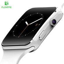 """Floveme Модные Смарт часы для телефона Android Поддержка карты памяти 32 ГБ SIM Bluetooth SmartWatch 1.54 """"HD OGS Фитнес браслет"""