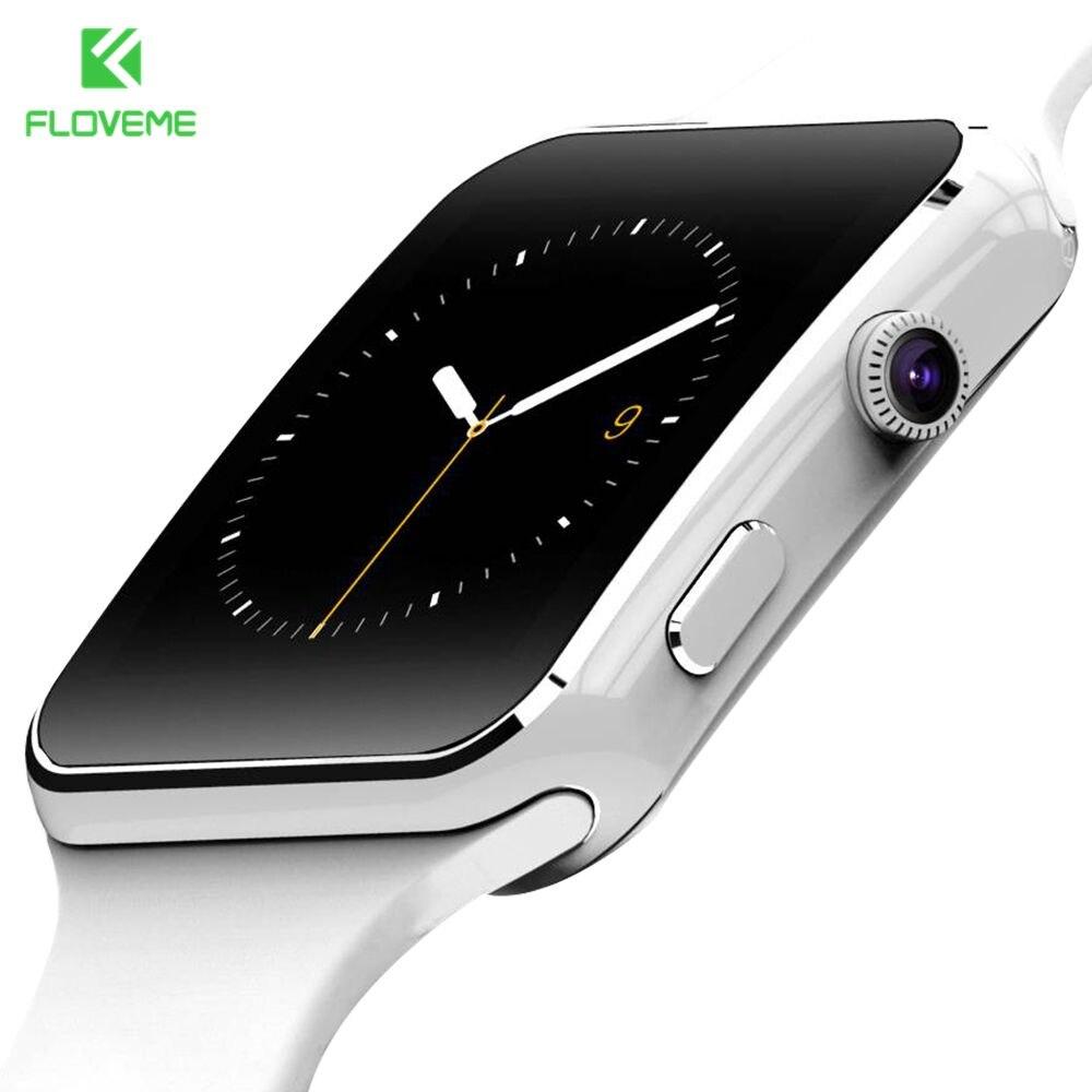 Floveme moda smart watch para el teléfono android de apoyo tf tarjeta de 32 gb s