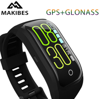 Makibes G03 בתוספת צבע מסך כושר Tracker צמיד IP68 עמיד למים GPS + GLONASS קצב לב צג צמיד חכם להקה