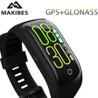Makibes G03 Plus Color Screen Fitness Tracker Wristband IP68 Waterproof GPS+GLONASS Heart Rate Monitor bracelet Smart Band
