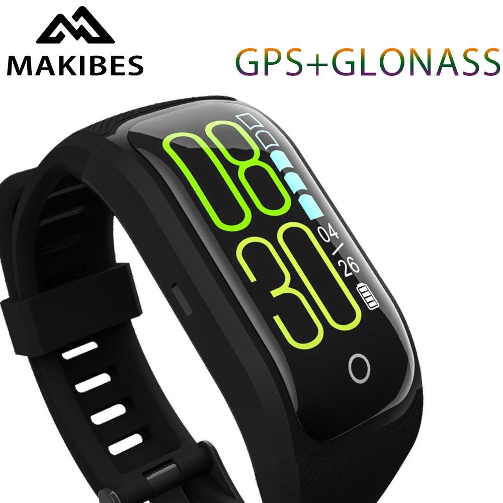 Makibes G03 Plus couleur écran Tracker de Fitness bracelet IP68 étanche GPS + GLONASS moniteur de fréquence cardiaque bracelet bande intelligente