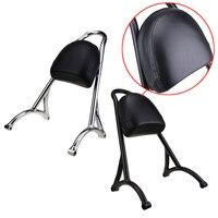Short Passenger Sissy Bar Backrest & Pillion Cushion Pad For Harley Sportster XL Iron Nightster 883 1200 Forty Eight 48 2004 17