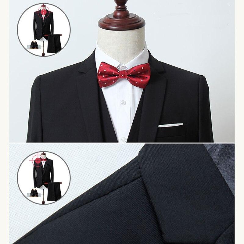 ac400d7b67221 Человек костюм деловой строгий платье для отдыха жилет, Зауженная модель из  трех частей жениха Best