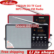 Hot Sale Tecsun D3 FM Stereo Radio Music MP3 Digital Song Selection TF Card Speaker With Built-In Speaker Free Shipping