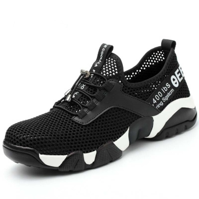 Summer lightweight steel toecap men women work & safety boots breathable male female shoes plus size 37-45