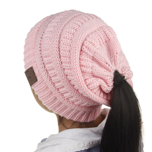 120pcs Candy Colors Kids CC Hat Winter Autumn Knitted Beanies Casual Pink  Skullies Beanies Girls Warm Caps for Children 19b83960f19