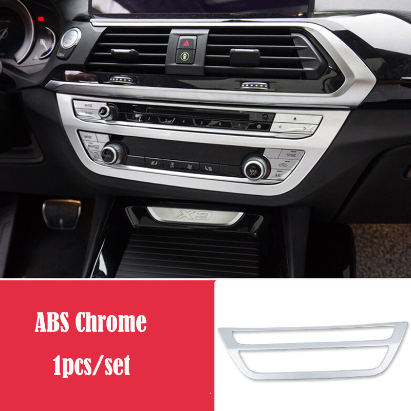 For BMW X3 G01 X4 G02 2018 2019 ABS Matte and Carbon fibre Car air conditioner