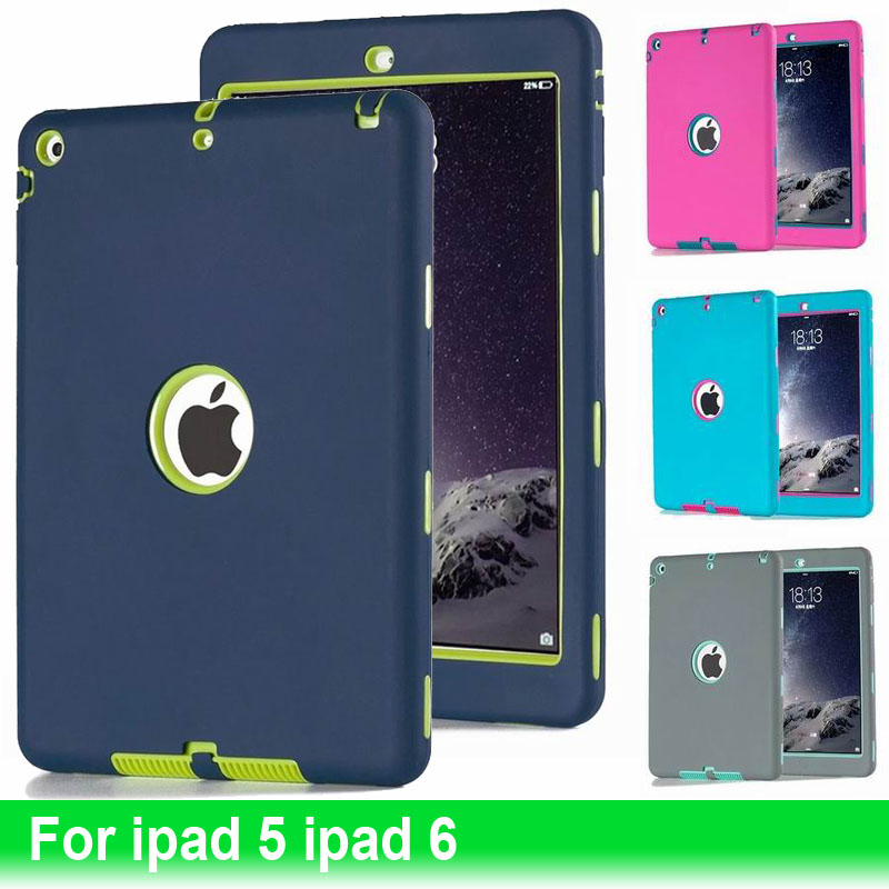 10Pcs/Lot Tablet Case For Ipad 6 Air2 Tough Military Hard Rugged Anti Shock Proof Hard Armor Back Covers For Apple Ipad 5 Air 2