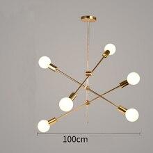Modern Glass Ball Pendant Chandeliers For Dining Living Room Led E27 Lighting