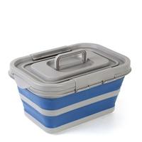 Folding storage box collapsible laundry basket small size(17L) Finishing box Outdoor travel suitcase Free shipping