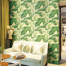 Southeast Asia Wallpaper Banana Leaf Exotic Bedroom Living Room Porch TV Background Wall Nordic Rainforest Non-woven Wallpaper