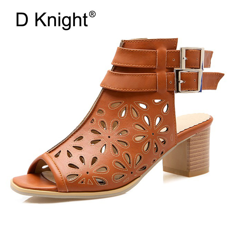 Square Summer High Heels 2017 Sexy Gladiator Sandals Women Platform Casual Pumps PU Leather Buckle Shoes Woman Plus Size 33-43 phyanic 2017 gladiator sandals gold silver shoes woman summer platform wedges glitters creepers casual women shoes phy3323