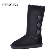 High Quality 100 Natural Fur Snow Boots Genuine Sheepskin Leather Women Boots Winter Warm Wool High
