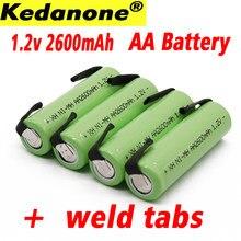 Ni-mh V 1.2 w akumulator AA 2600 mAh nimh cell green case z wkładkami spawalniczymi do golarki elektrycznej Philips toot