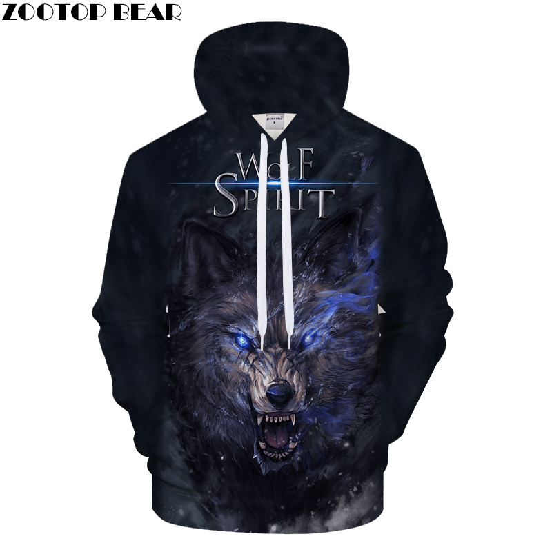 Autume Men Women Sport Hoodie  FULL RANGE Of Asian Grassland Wolf 3D Printed Men Hoodies Couples Style Pullover Asian Size S-6XL