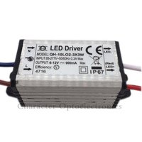 2pcs Waterproof Power Supply AC 110 220V LED Driver 2 3x3W 10W 900mA For 10w High