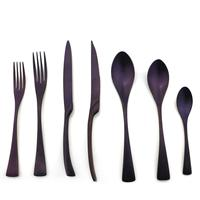 21pieces New Stainless Steel Golden Cutlery Set Dinnerware Tableware Dinner Knife Fork Foods Tools Kitchen Accessories