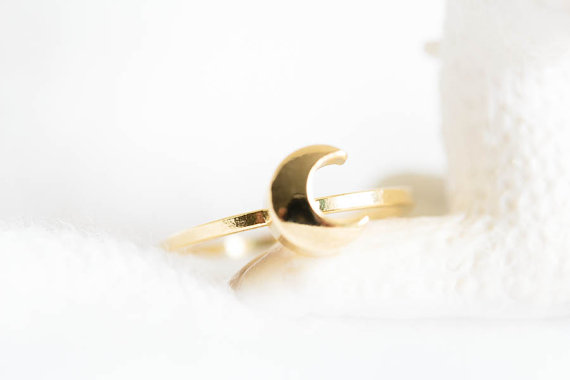 moon knuckle ring,moon ring,knuckle ring, pinky rings, jewelry rings,half moon rings,knuckle rings,pinky rings