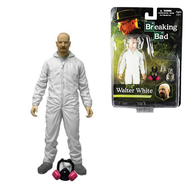 Breaking Bad Walter White Hazmat Suit 16cm/6.3 Action Figure By Mezco Free Shipping