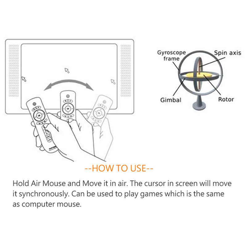 Souris d'air. 2.4G télécommande somatosensorielle sans fil. 6 axes intégrés. Convient pour PC, Android Tv Box, Android AUN projecteur