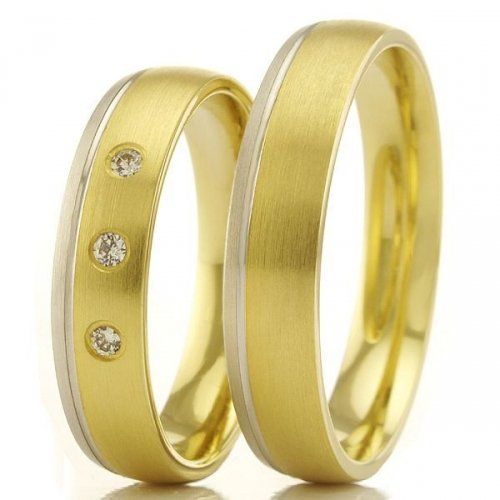 beautiful yellow gold plating titaniuml jewelry his and
