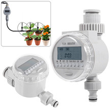 Automatic Irrigation Watering Timers Garden Solar Power Timer Programmable LCD Display Hose System