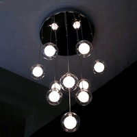 Moderne minimalistische restaurant LED woonkamer hanglamp slaapkamer lamp glas bal bubble lamp creatieve kleuren ZH ZL326