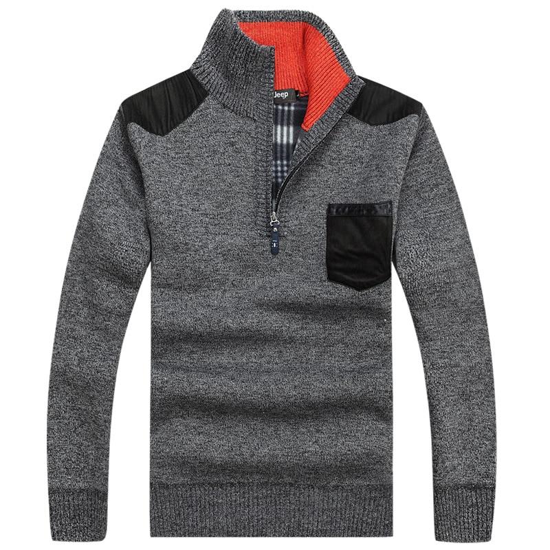 Большой Размеры 3xL теплый толстый бархат кашемир Свитеры для женщин Для мужчин зимние Пуловеры для женщин на молнии воротник-стойка человек Повседневная одежда узор трикотаж