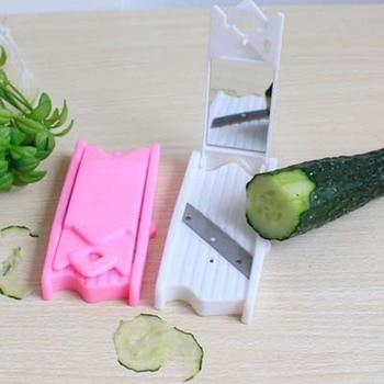 1PC Food Facial Cucumber Slicer Carrot Cucumber Sharpener Peeler Kitchen Tool Spiral Vegetable Slicer With Mirror Gadget OK 0261 Огурец обыкновенный