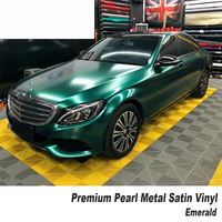 Matt Metallic emerald pearl metal Vinyl wrap matte car wrapping film covering foil air bubble free High end market