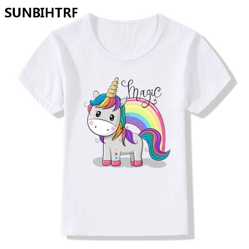 Magic Unicorn Rainbow Shades TShirt T-Shirt Tee Kids Unisex Childrens Cute