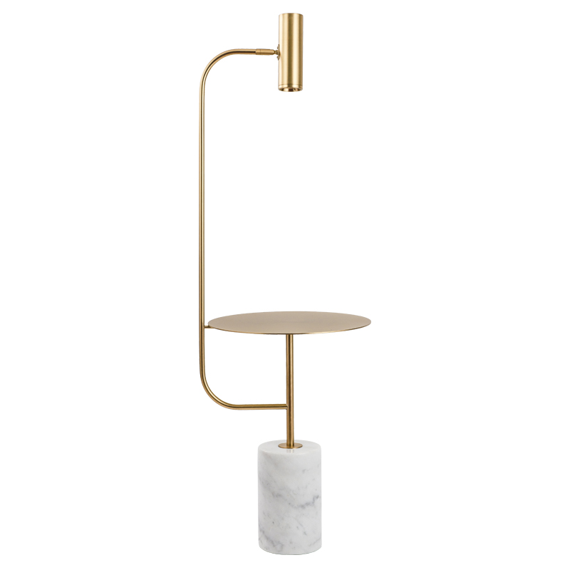 Modern Simple Floor Lamp with metal table marble base Coffee Table Standing Light Fixture Living Room Study Bedside Reading Lamp