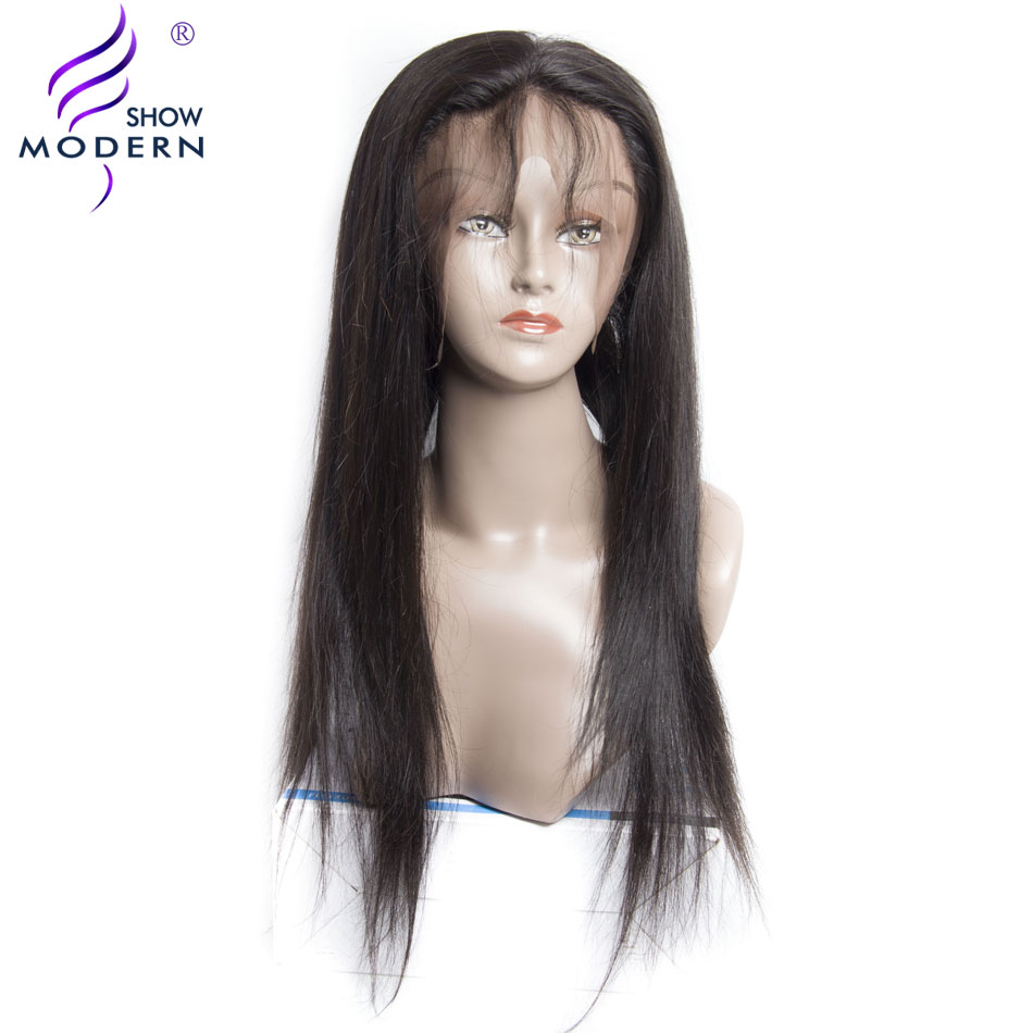360 Lace Frontal Closure Straight Hair Modern Show 100% Remy Human Hair Pre Plucked Natural Color Can be dyed Free Shipping
